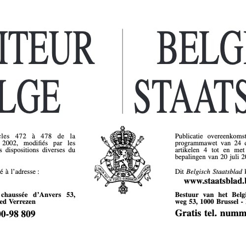 Comment faire publication moniteur belge